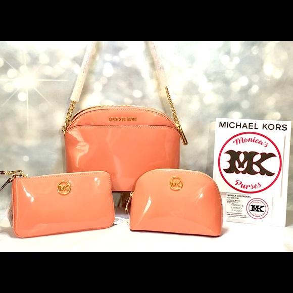 374cb85b5fe6 Bags | Michael Kors 3piece Set Peach Crossbody Nwt | Poshmark